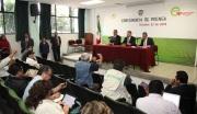 El alcalde Pablo Bedolla López; el secretario general de Gobierno, José Manzur Quiroga y el titular de la PGJEM, Alejandro Gómez Sánchez. Foto: Especial