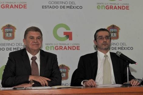 El secretario general de Gobierno, José Manzur y el procurador Alejandro Jaime Gómez Sánchez. Foto: GEM
