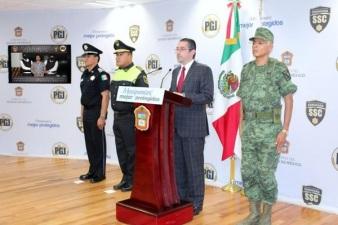 El procurador Alejandro Jaime Gómez Sánchez, durante la conferencia de prensa. Foto: Twitter de la PGJEM