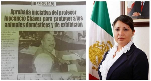 La publicación del viernes 26 de septiembre y la octava regidora de Ecatepec, Susana García Esparza. Infograma: aquíEcatepec