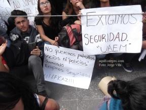 Petición generalizada luego del intento de secuestro de una de sus compañeras. Foto: Jorge Villa
