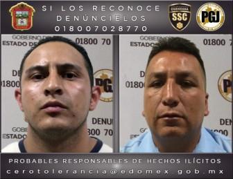 Los detenidos por homicidio en la colonia Hank kGonzález son Daniel Ángel Carrasco Soberanes y José Carlos López Carrasco. Foto: PGJEM