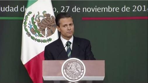 El presidente Enrique Peña Nieto propuso impulsar cambios de fondo que permitan mejorar la seguridad, la justicia y el estado de derecho. Fotograma: Tomado del canal de Presidencia