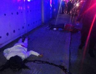 Las víctimas, sobre la acera de Diagonal Santa Clara. Foto: ReporterosenMovimiento.wordpress.com