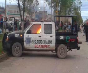 Otra de las unidades afectadas. Foto: Twitter