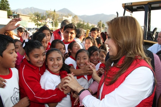 La presidenta municipal, Sandra Méndez Hernández. Foto: C.S.