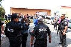 Policías municipales y de la Secretaría de Seguridad Ciudadana arribaron al lugar, pero no lograron detenciones. Foto: Tomada de Reforma