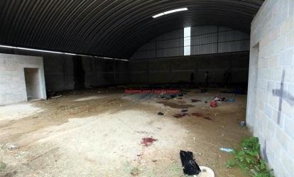 Bodega donde fueron asesinados 22 civiles. Foto: Archivo/Reforma.com