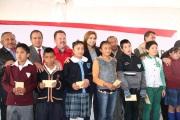 No me queda duda que en Tultitlán contamos con muchos niños y niñas con talento y sobresalientes, dijo la alcaldesa Sandra Méndez. Foto: CST