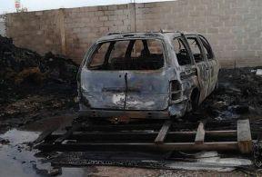 Un auto cercano a la explosión. Foto: Tomada de Milenio