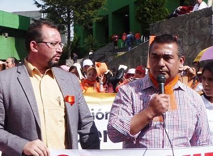 El presidente y el secretario general del PRD-Edoméx