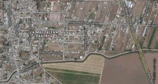 Vita aérea de la zona  donde presuntamente hubo un fenómeno terrenal. Foto de Google Maps
