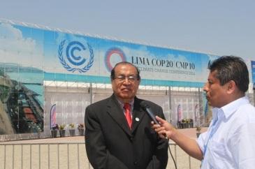 Eduardo Sánchez Anaya en representación de la UNAI afirma que con seis acciones urgentes México se pondría a la vanguardia en adaptación y combate al cambio climático. Foto: Difunet