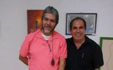 Los poetas Carlos Eduardo Lamas y Octavio A. Rodríguez Yelmi