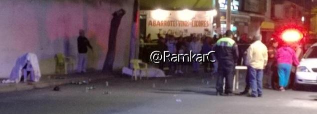 En la calle de Ernesto Pugibet se encontraban cuatro personas consumiendo bebidas alcohólicas y una de ellas disparó. Foto: Ramkar Cruz