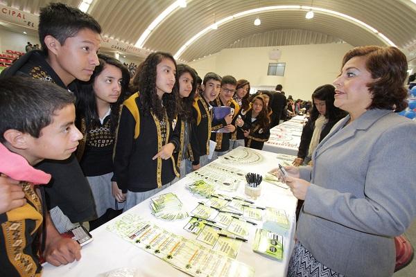 Cabe señalar que la invitación a esta Expo se realizó a través de las 40 escuelas secundarias públicas y particulares que se encuentran dentro del municipio de Tultitlán. Fto: CST