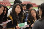 Esta Expo contó con la participación del CECyTEM, Cobaem, Preparatorias No. 68 y No. 34, entre otras, quienes mostraron a las y los asistentes de las distintas secundarias el plan de estudios que manejan conforme las necesidades de los estudiantes. Foto: CST