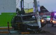 El accidente ocurrió alrededor de las 05:30 horas en la Avenida Central casi esquina con Ignacio Allende, en las inmediaciones del Metro Olímpica. Foto: Tomada de La Jornada