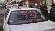 """Pide taxistas regular a las autoridades del Transporte """"ya que nos ponen al mismo nivel de los delincuentes a todos los conductores"""" por lo que demandan """"no a la criminalización y penalización de los ciudadanos"""". Foto: Jorge Villa"""