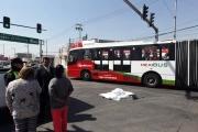 El accidente ocurrió a la altura de la estación Cuauhtémoc Norte. Foto: Tomada de Reforma