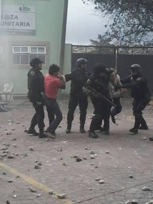 El saldo preliminar fue de 5 lesionados y al menos 10 detenidos. Foto: Tomada de MVS Noticias
