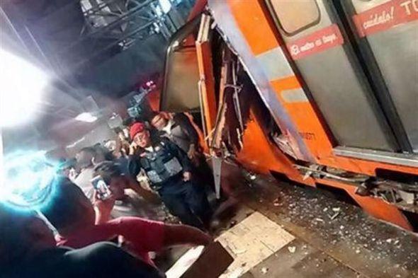 Según reportes de Radio Fórmula, hasta el momento hay 17 personas heridas por este percance, en tanto que  La Jornada reportó 10 lesionados y dos personas prensadas. Foto: Twitter