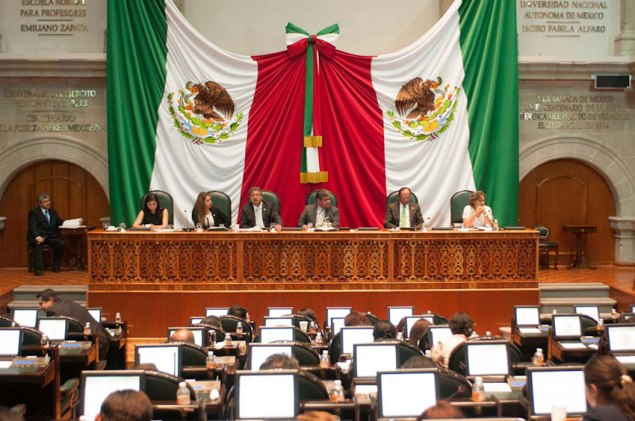 Casi todo el pleno del Congreso mexiquense avaló la iniciativa del gobernador Eruviel Ávila. Foto: DGCS