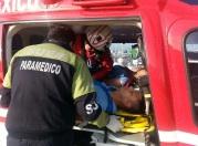 Dos de los lesionados fueron trasladados en helicóptero para su atención médica. Foto: Reforma