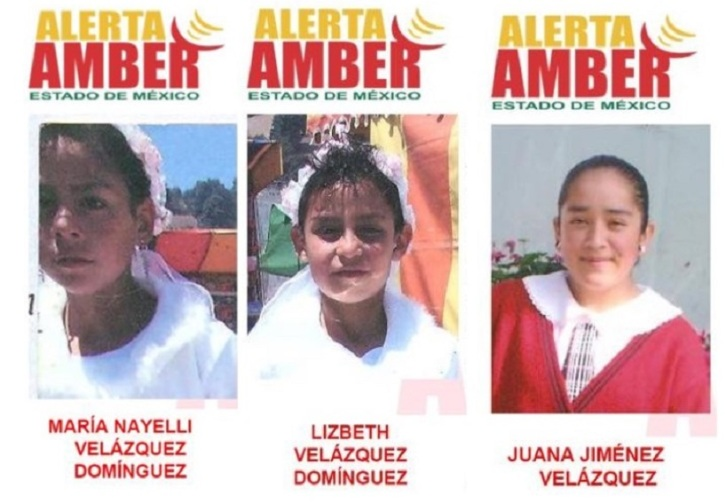 Ellas son María Nayelli Velázquez Domínguez, de 17 años de edad; Lizbeth Velázquez Domínguez, de 15 y Juana Jiménez Velázquez, de 15 años. Foto: PGJEM