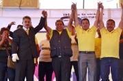 La tarde de este viernes el TEEM confirmó el triunfo del perredista Ramón Montalvo (izquierda) a la alcaldía de Valle de Chalco; en seguida, Javier Salinas. Foto: CSMS